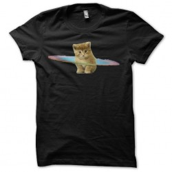 Cat t-shirt in black...