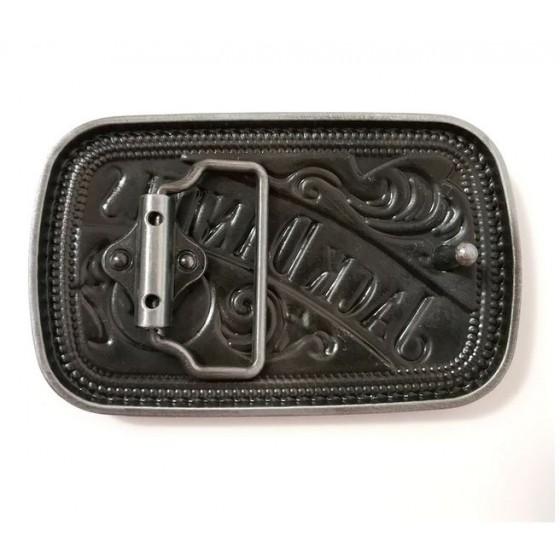 vintage jack daniel's belt buckle with optional leather belt