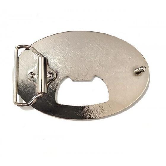 bottle opener corona belt buckle with optional leather belt