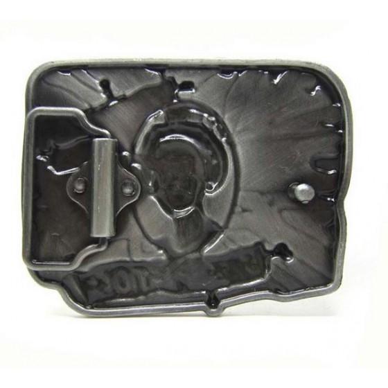 sex pistol belt buckle with optional leather belt