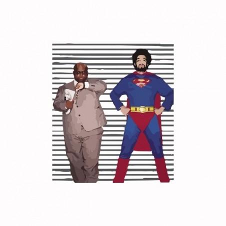 Tee shirt Gnarls Barkley parodie Super Man  sublimation