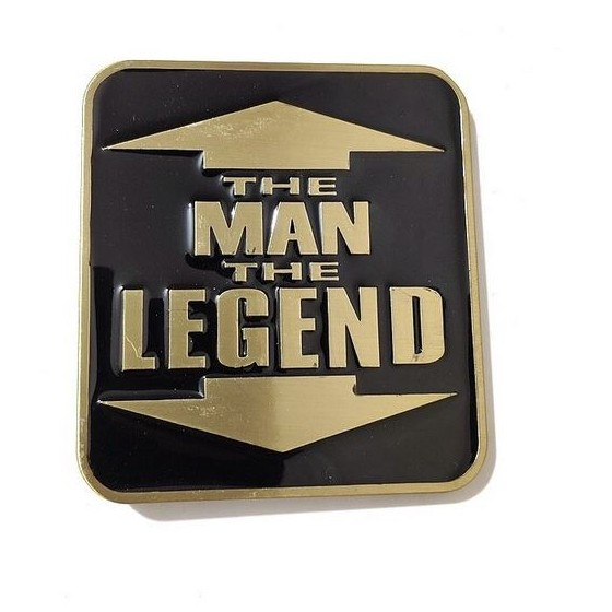 man legend belt buckle with...