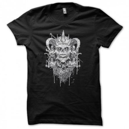Satananic t-shirt black sublimation