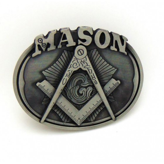 freemason belt buckle with...