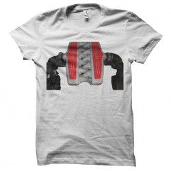 Ferrari engine t-shirt in white sublimation