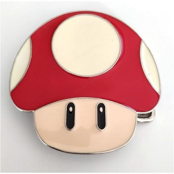 gamer mushroom belt buckle...