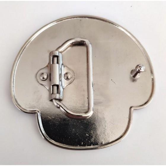 gamer mushroom belt buckle with optional leather belt