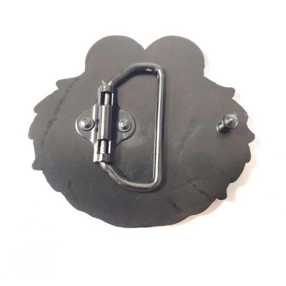 boucle de ceinture emo avec ceinturon cuir optionnel