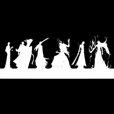 Aejiko bleach evolution sublimation black silhouettes t-shirt