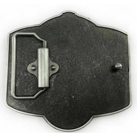johnny cash belt buckle with optional leather belt