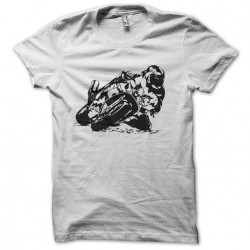 T-shirt motorcycle race racing white sublimation