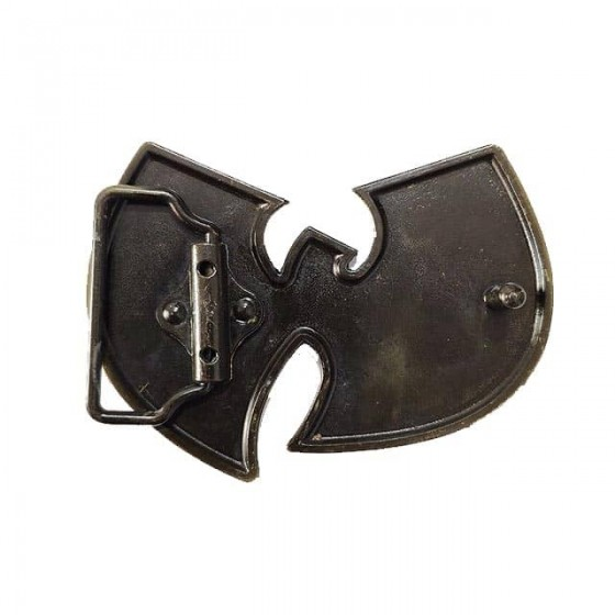 wu tang clan belt buckle with optional leather belt