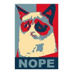 Tee shirt chat parodie obama  sublimation