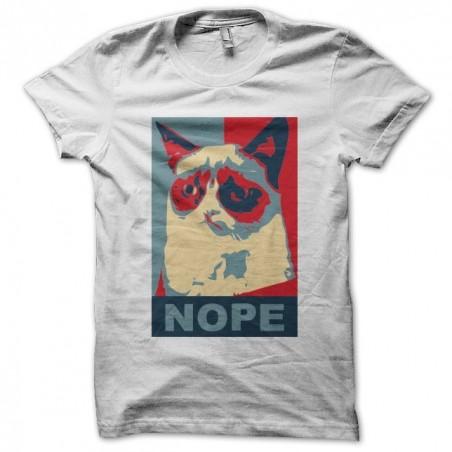 Parody obama white sublimation cat t-shirt