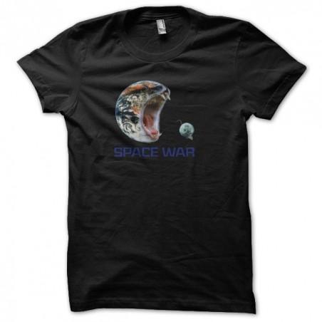 Space war t-shirt black sublimation