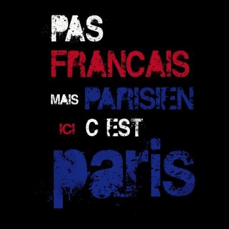 Shirt here it is paris noir sublimation