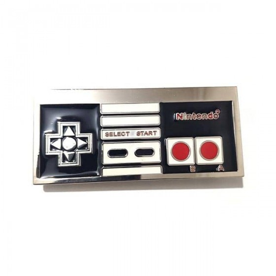 nes paddle belt buckle with...