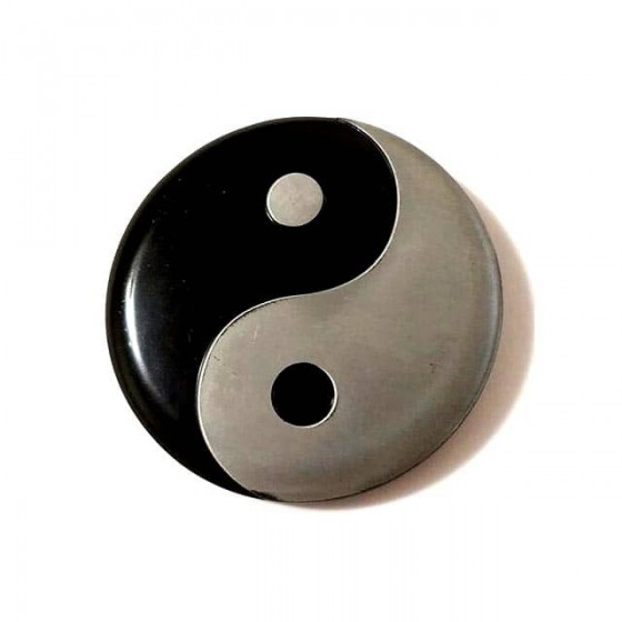 ying yang belt buckle with...