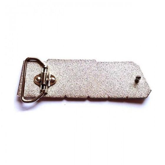 gijoe belt buckle with optional leather belt