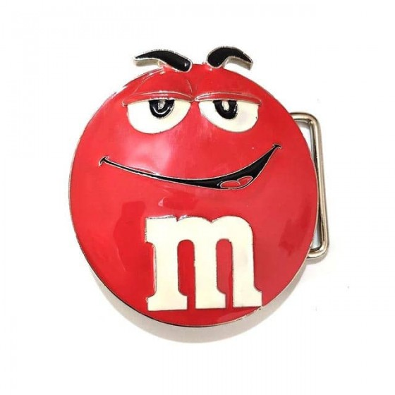 m&m's belt buckle with...
