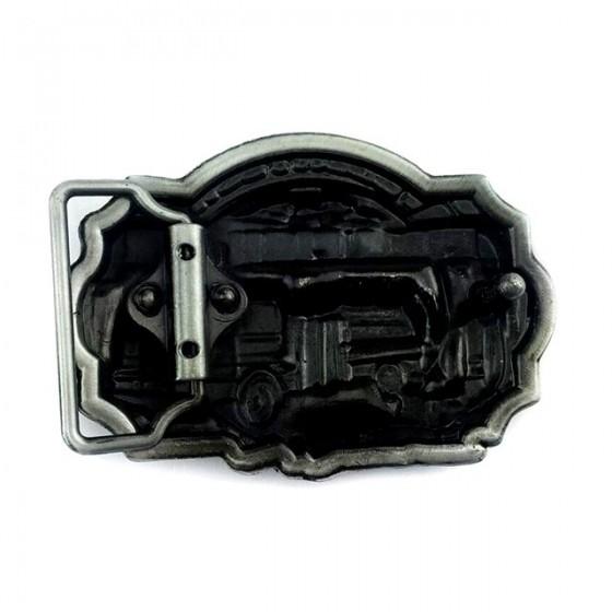 boucle de ceinture pompier volontaire avec ceinturon cuir optionnel