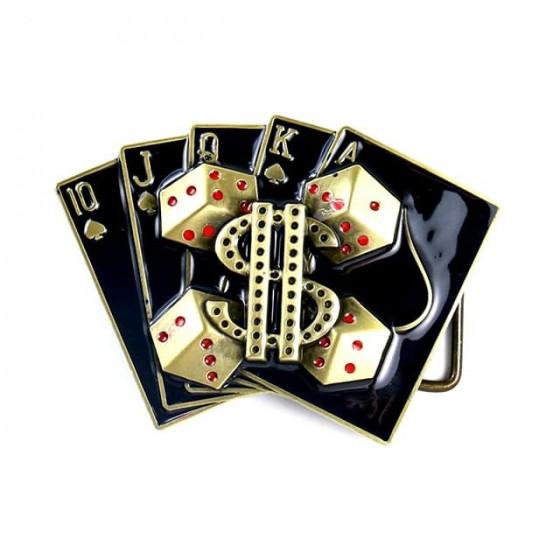 dollar poker belt buckle...