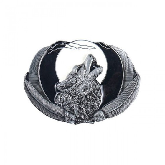 wolf pack belt buckle with...