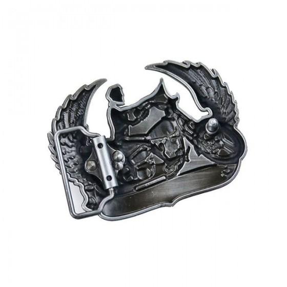 biker hell on wheels belt buckle with optional leather belt