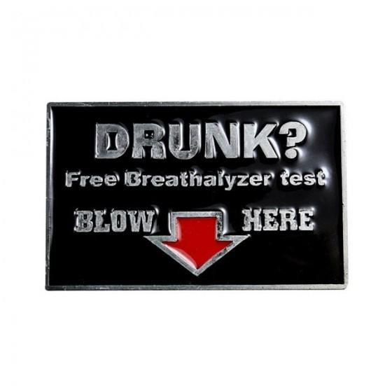 alcohol test belt buckle...