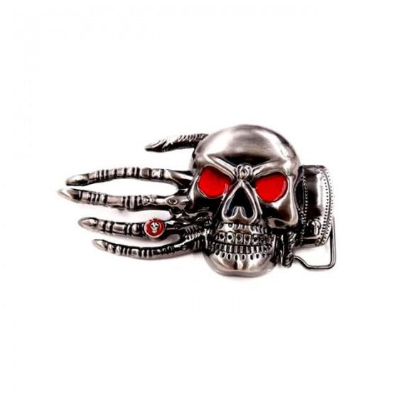 satanic skull belt buckle...