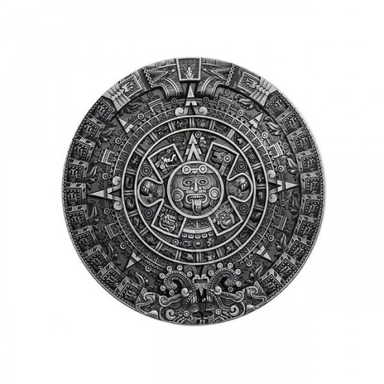 aztec calendar belt buckle...