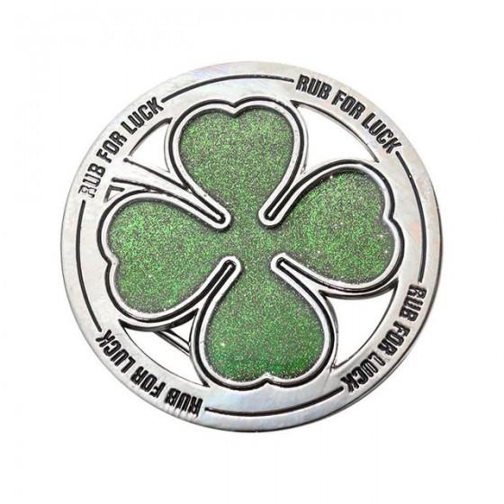 4 leaf clover belt buckle...