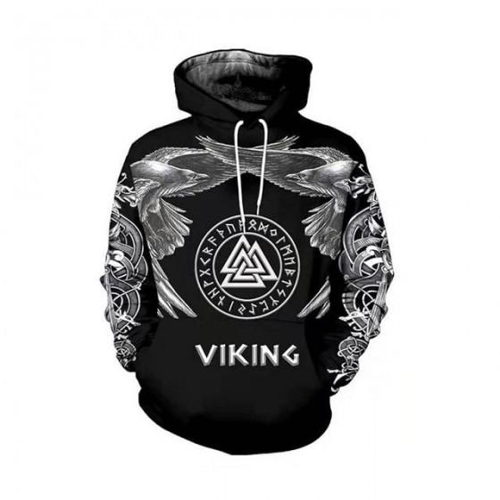 Veste viking à capuche