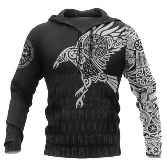Veste viking runes à capuche