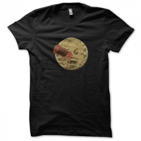 Tee shirt voyage in the moon Georges Mélies black sublimation