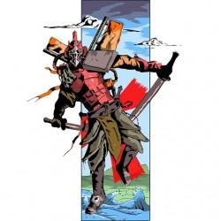 Samurai t-shirt of the...