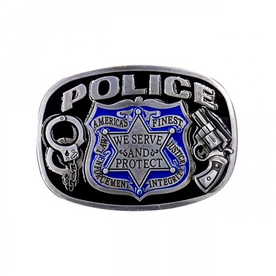 police USA belt buckle with...