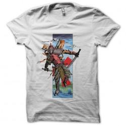 Samurai t-shirt of the future white sublimation