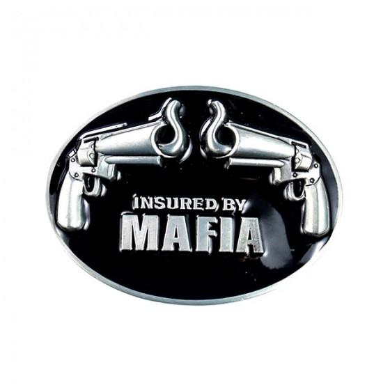 mafia guns belt buckle with...