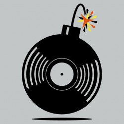 Musical Tee Shirt Bomb Gray...