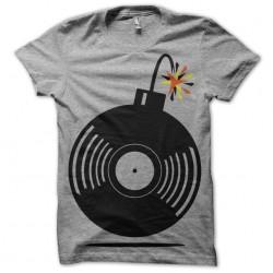 Musical Tee Shirt Bomb Gray Sublimation