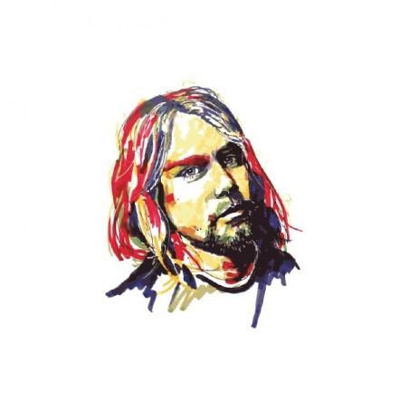 Kurt Cobain painting fan art white sublimation t-shirt
