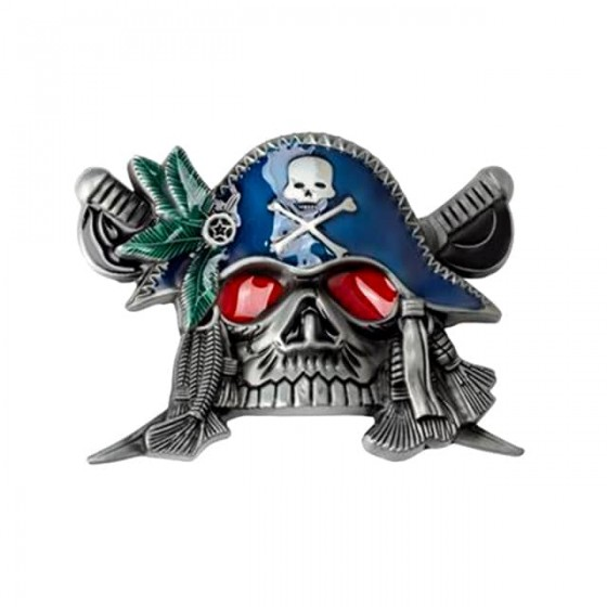 pirate belt buckle with...