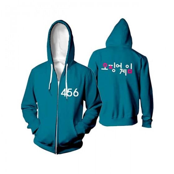 squid game 456 jacket hoodie