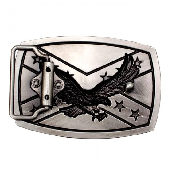 confederate eagle belt buckle with optional leather belt