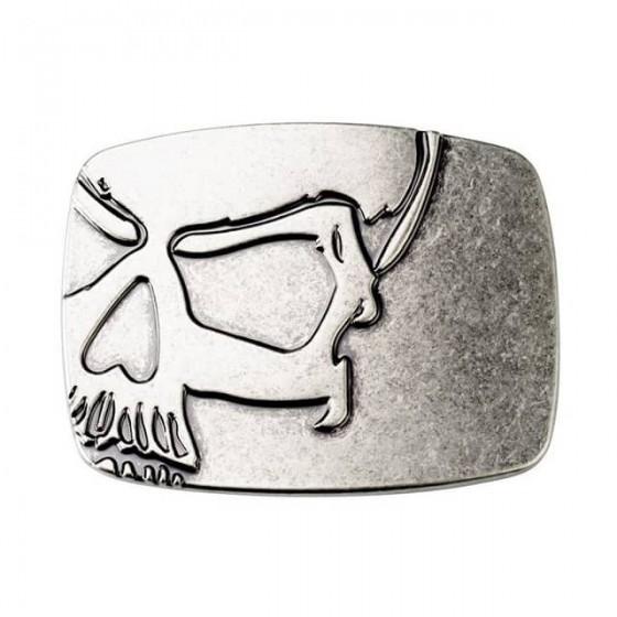 skull head belt buckle with...