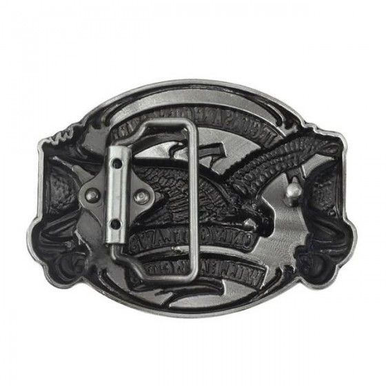 outlaws eagle bikers belt buckle with optional leather belt