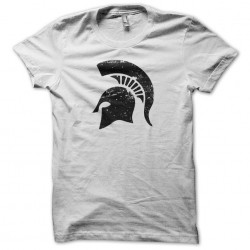 T-shirt Spartacus helmet spartan vintage artwork white sublimation