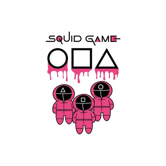 squid game cercle triangle square shirt sublimation