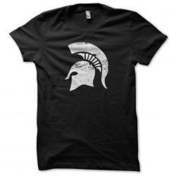 T-shirt Spartacus helmet spartan vintage artwork black sublimation